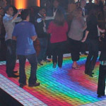 Paypal rents LED dance floor for event