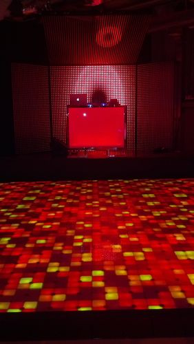 Target rents LED dance floor for event
