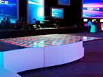 LED dance floor for event