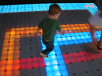 Lighted kids dance floor