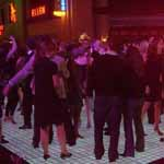 People on LED dance floor for rent